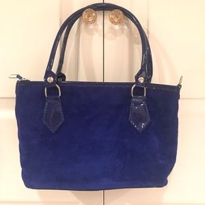 Handbags - Blue Suede Borse In Pelle Replica bag